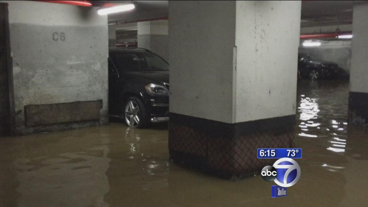Exclusive: Cars flooded in Manhattan garage