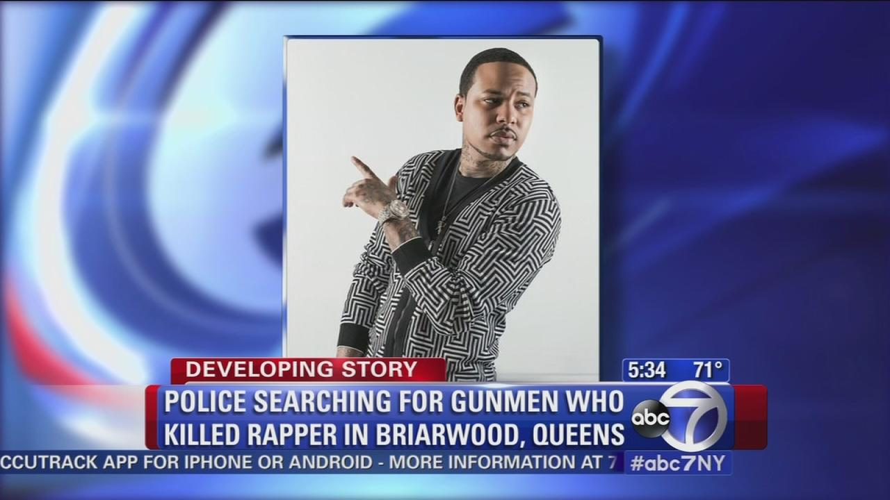 Police search for gunmen who killed Queens rapper