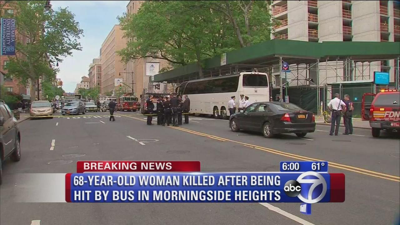 Elderly woman killed after being hit by bus in Morningside Heights