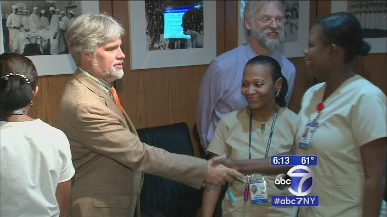 Exclusive: Man reunites with hospital workers who saved his life