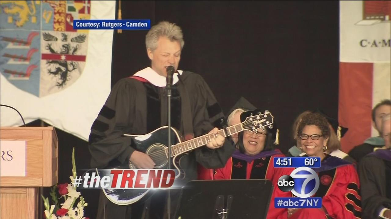The Trend: Bon Jovi performs comencement speech at Rutgers