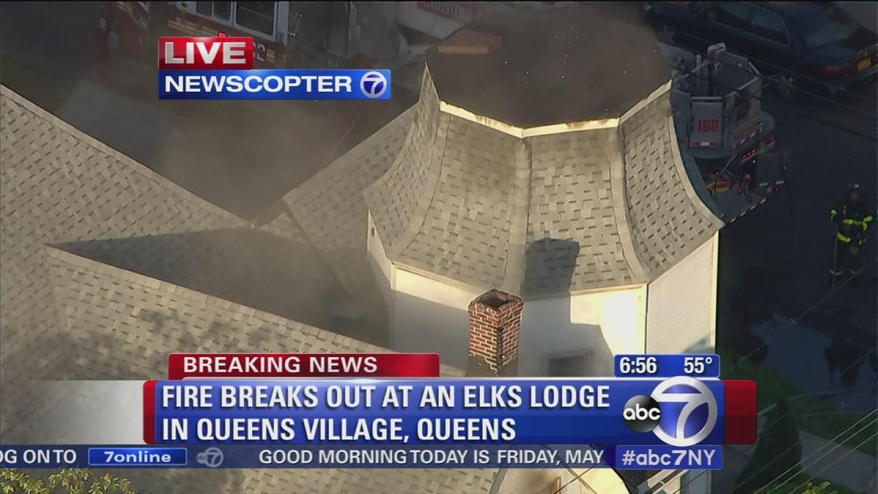 Fire breaks out at Elks Lodge in Queens Village