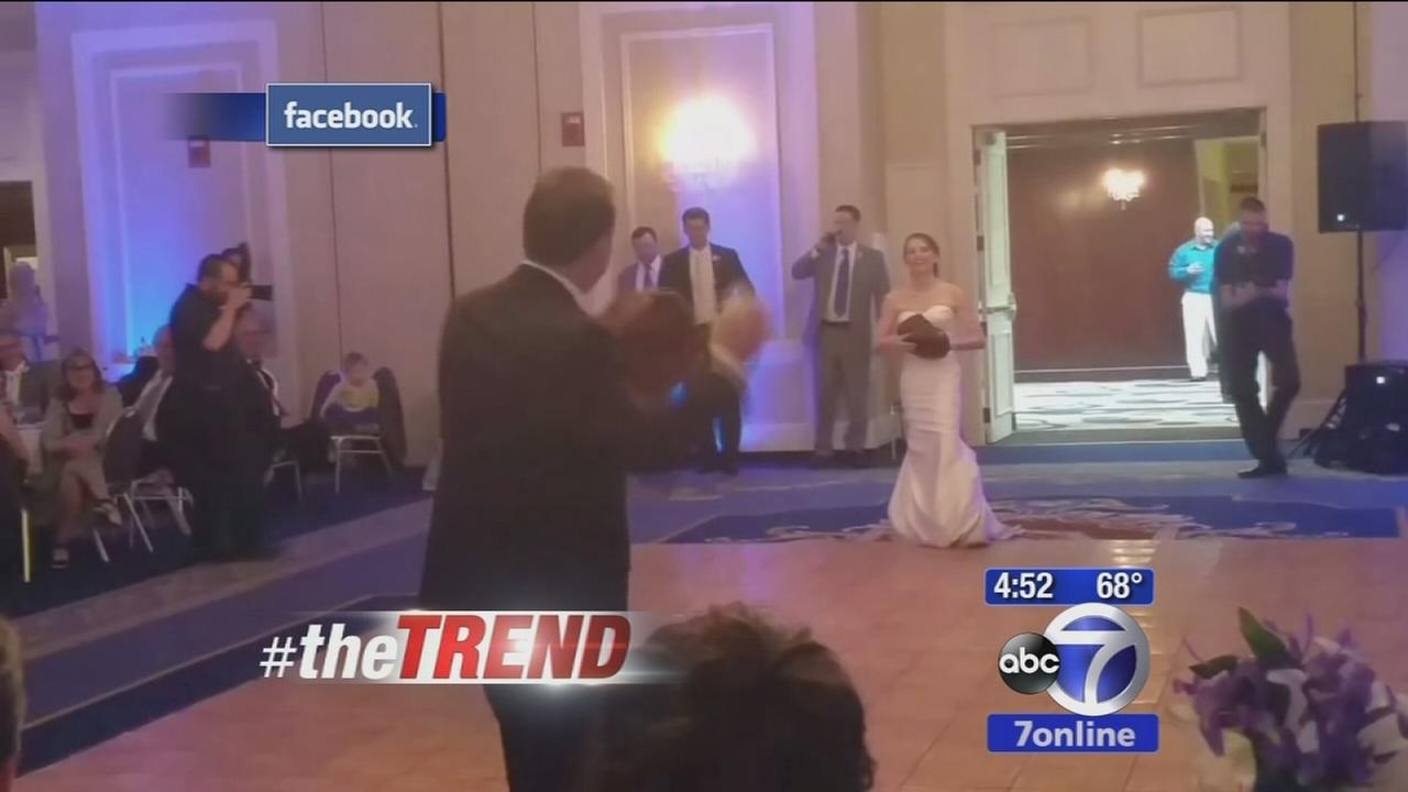 The Trend: Dad plays catch with bride instead of dancing