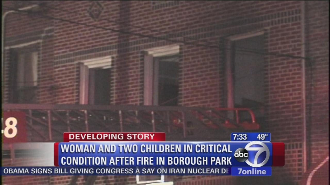 Borough Park fire leaves mom, 2 daughters injured
