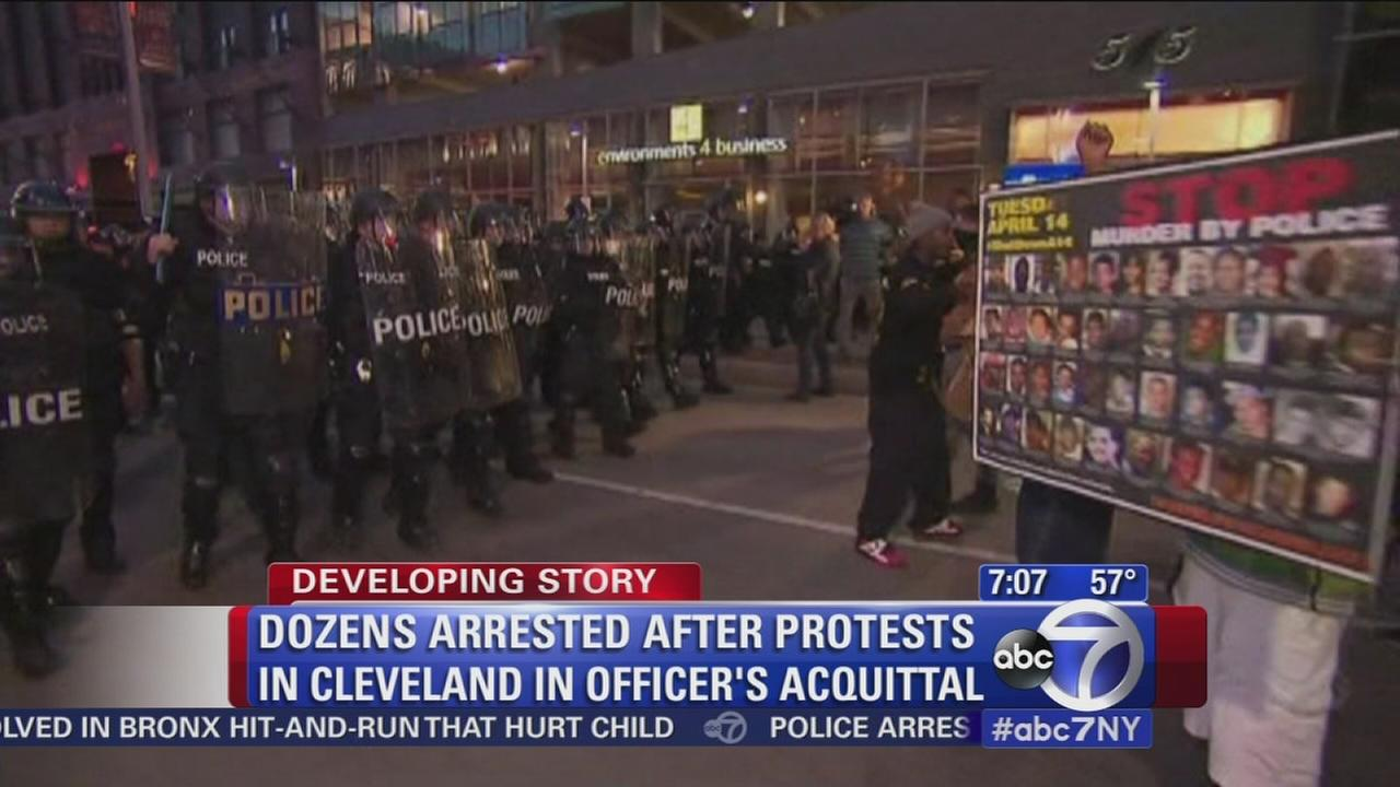 Protests in Cleveland over officers acquittal