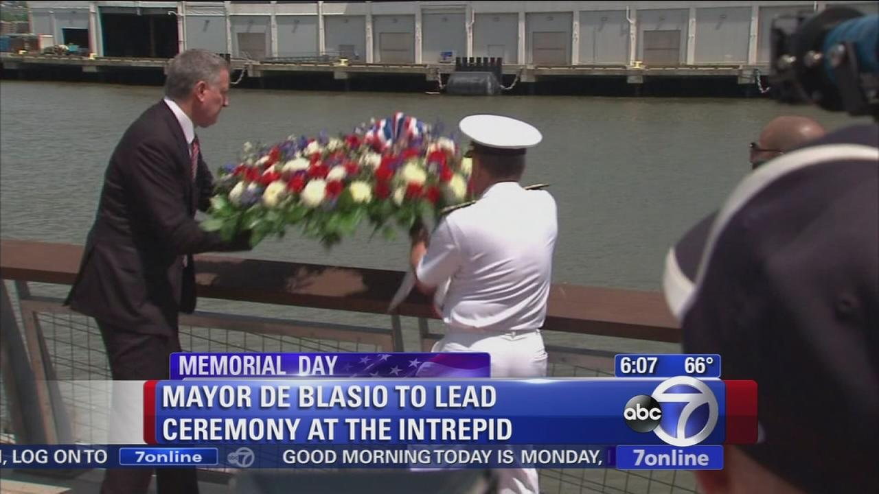 Mayor to lead ceremony at the Intrepid