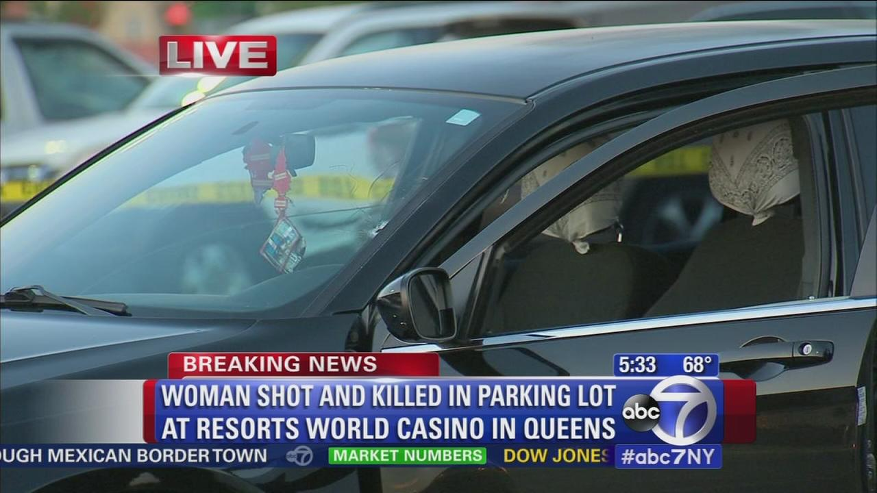 Woman shot in casino parking lot
