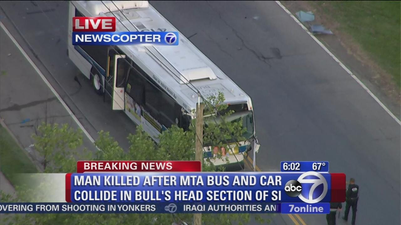Man killed in MTA bus crash