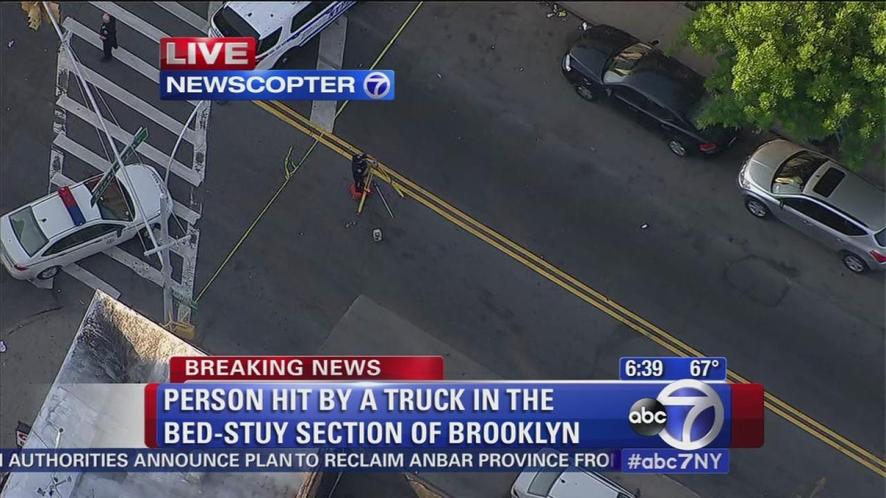 Pedestrian hit by truck in Bed-Stuy