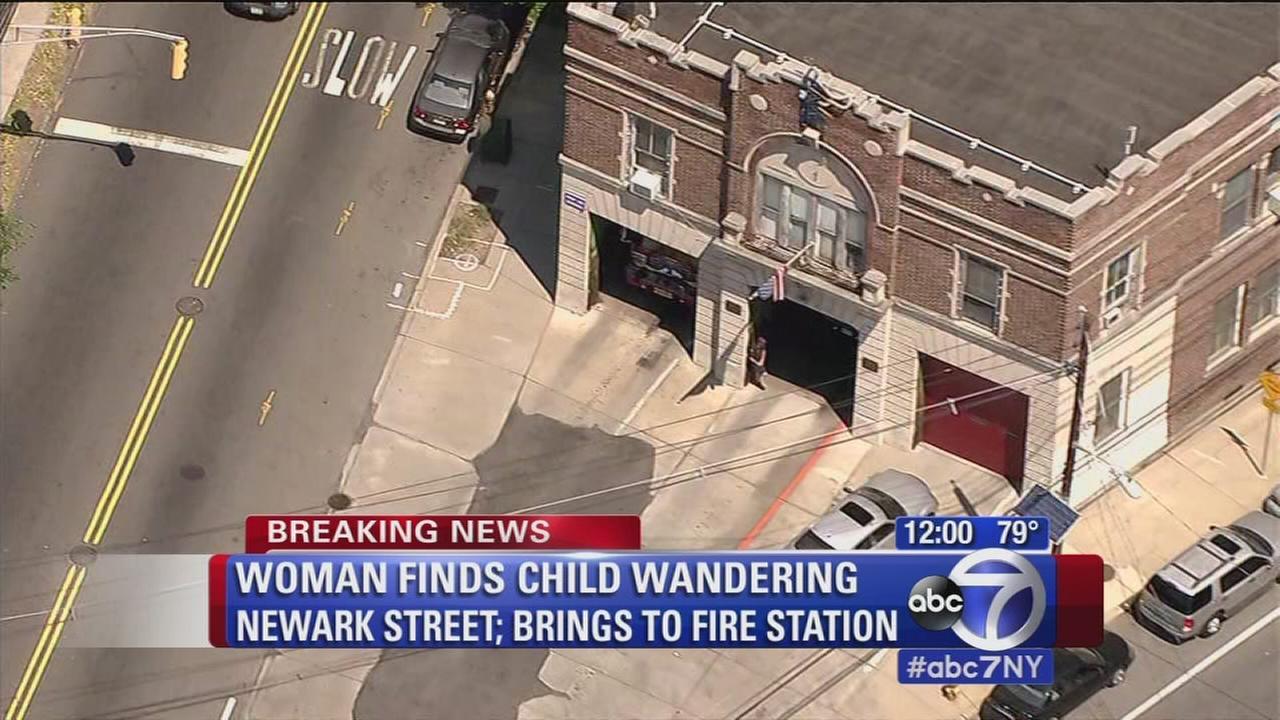 3-year-old found wandering in Newark