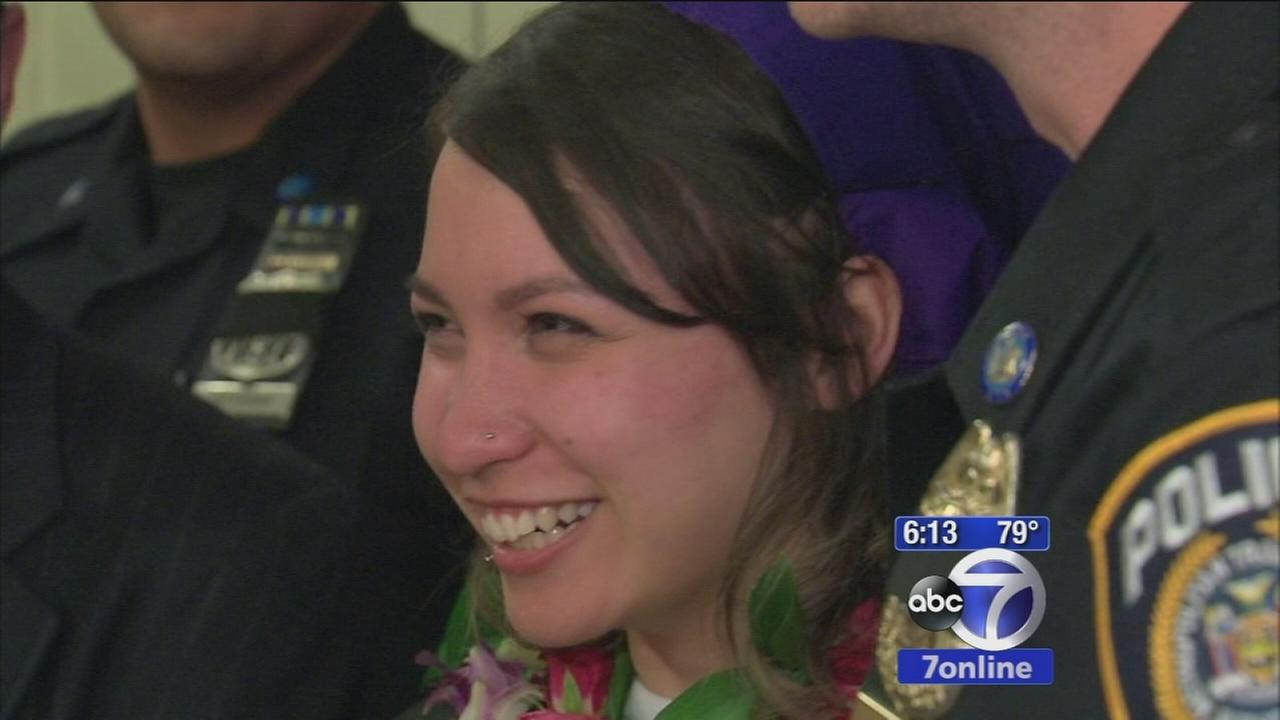Hunter college student pushed onto tracks reunited by the officers who saved her