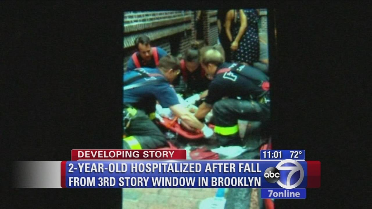 2-year-old girl falls from 3-story window in Brooklyn