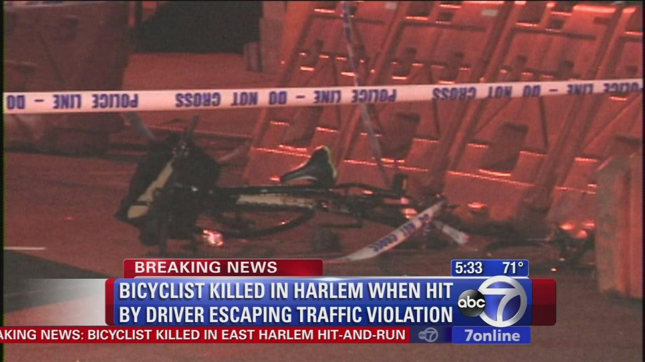 Bicyclist hit, killed in East Harlem