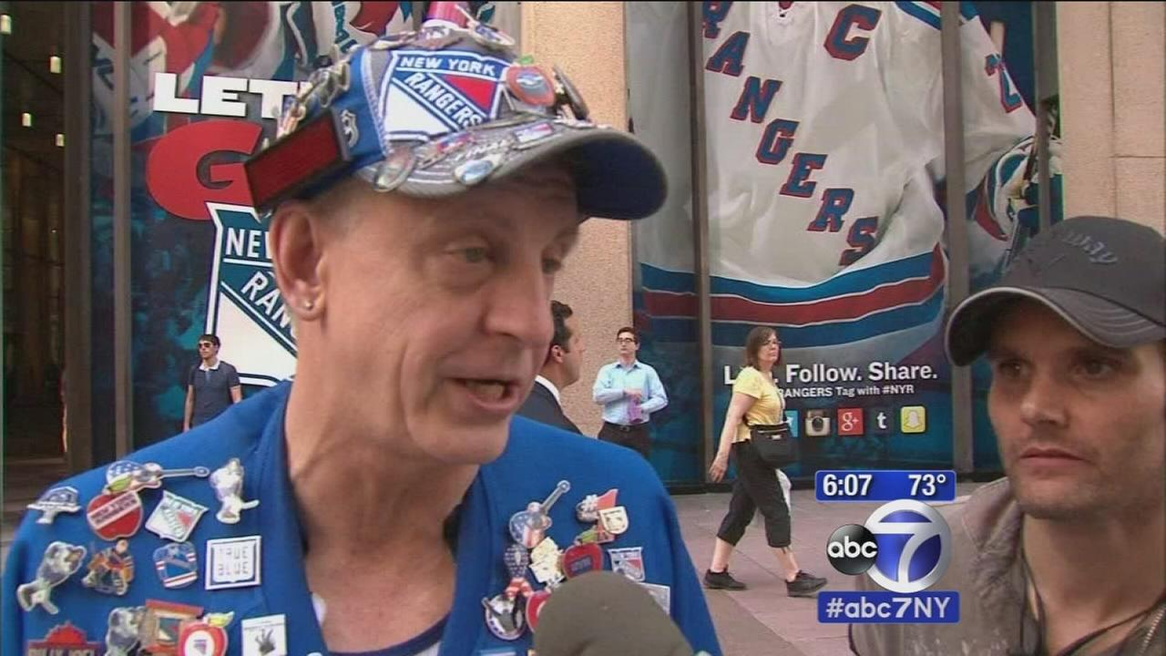 Excited Rangers fans get ready for game 7