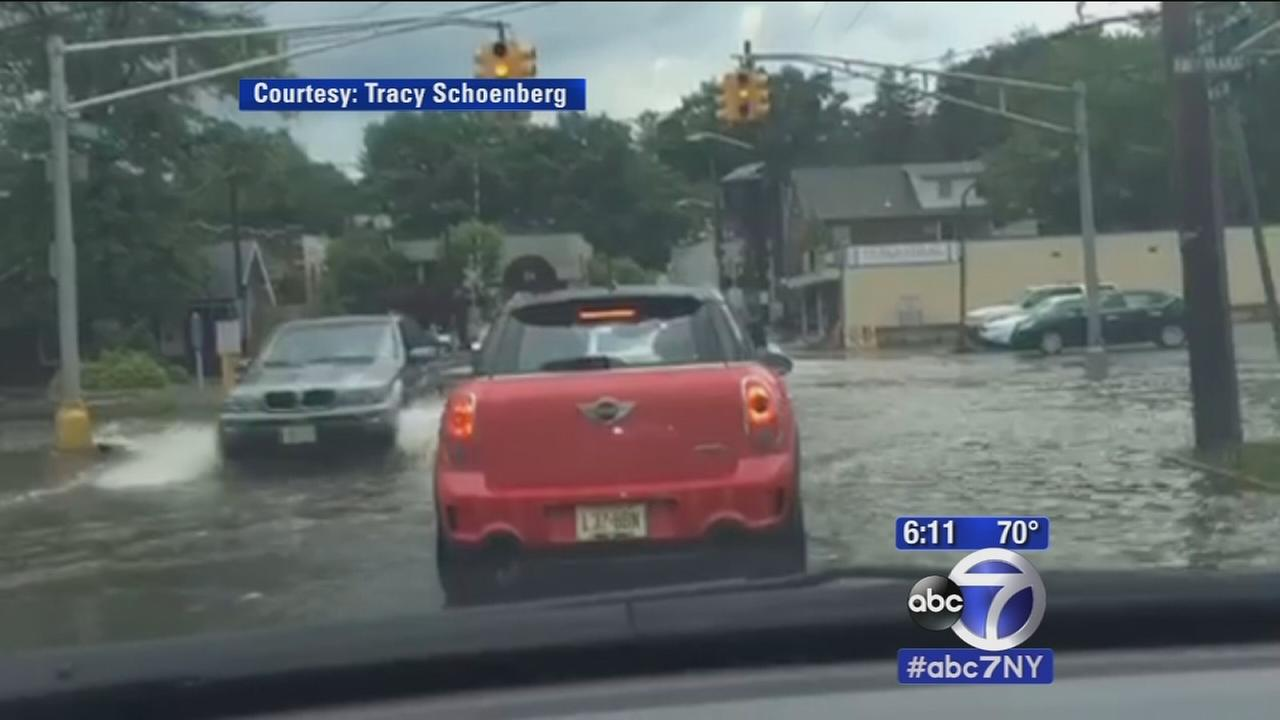 Torrential rain causing flooding throughout area
