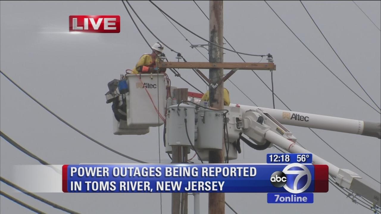 Power outages in Toms River