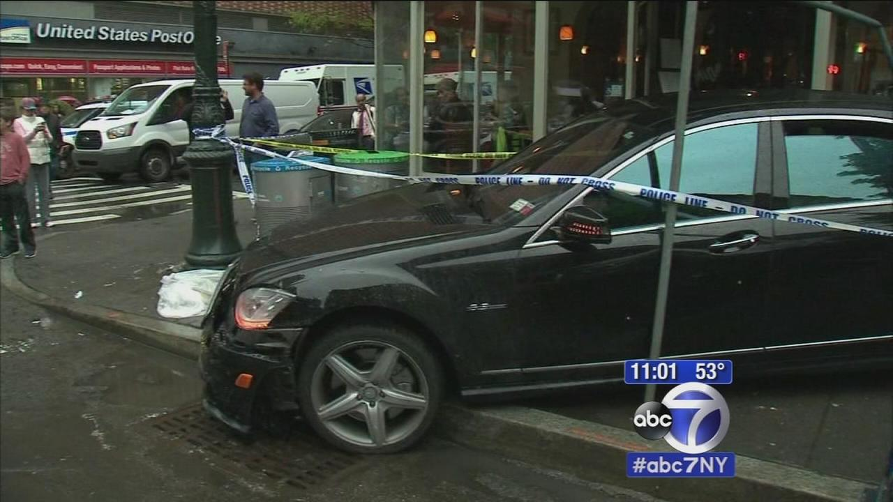Chase ends with crash on Upper West Side