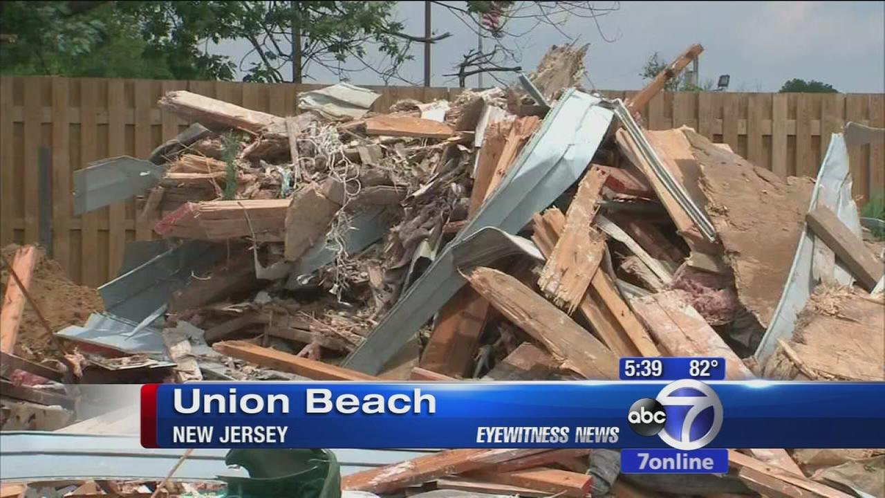 Union beach house collapses