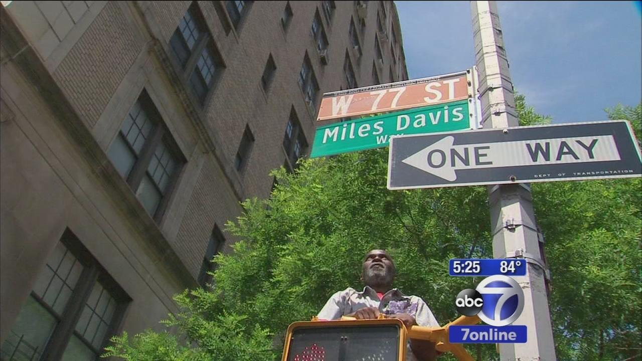 Block re-naming and party for Jazz great Miles Davis
