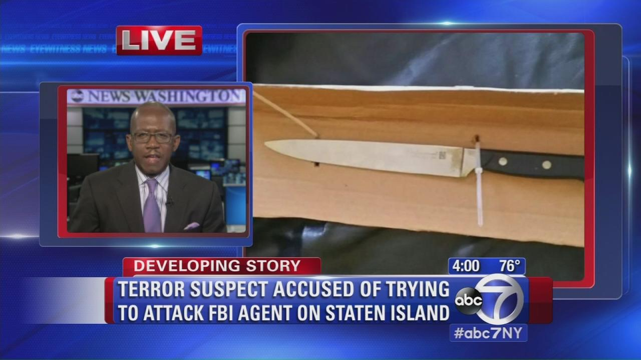 Terror suspect accused of trying to attack FBI agent on Staten Island