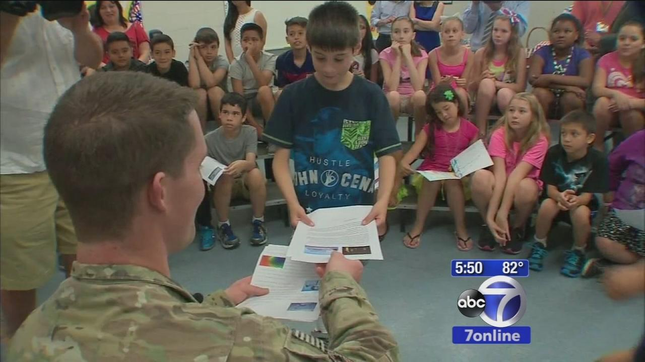Long Island students get surprise visit from their Air Force pen pal