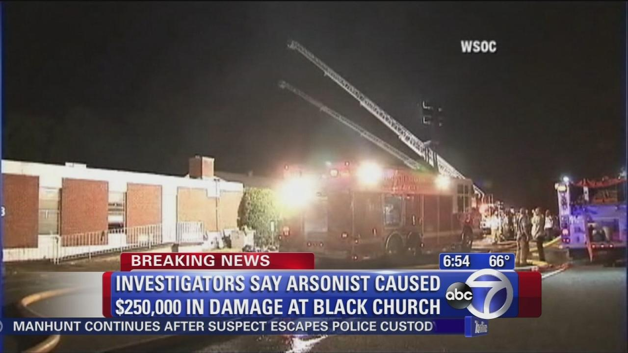 Arsonist targeted black church in Charlotte