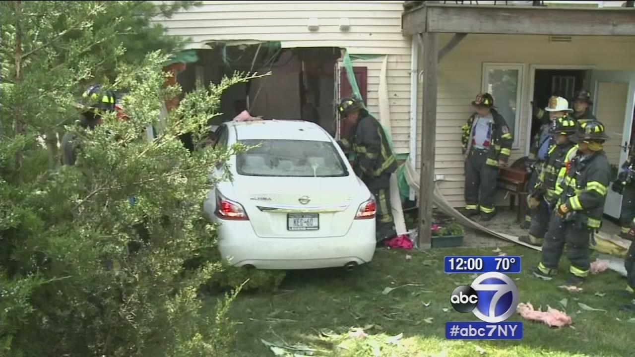 Out-of-control car crashes into Long Island home