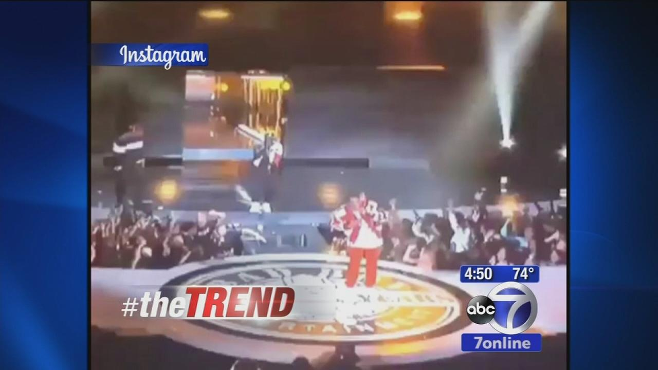 The Trend: Diddy falls during BET awards performance