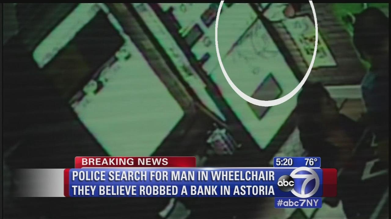 Police believe man in wheelchair robbed Astoria bank