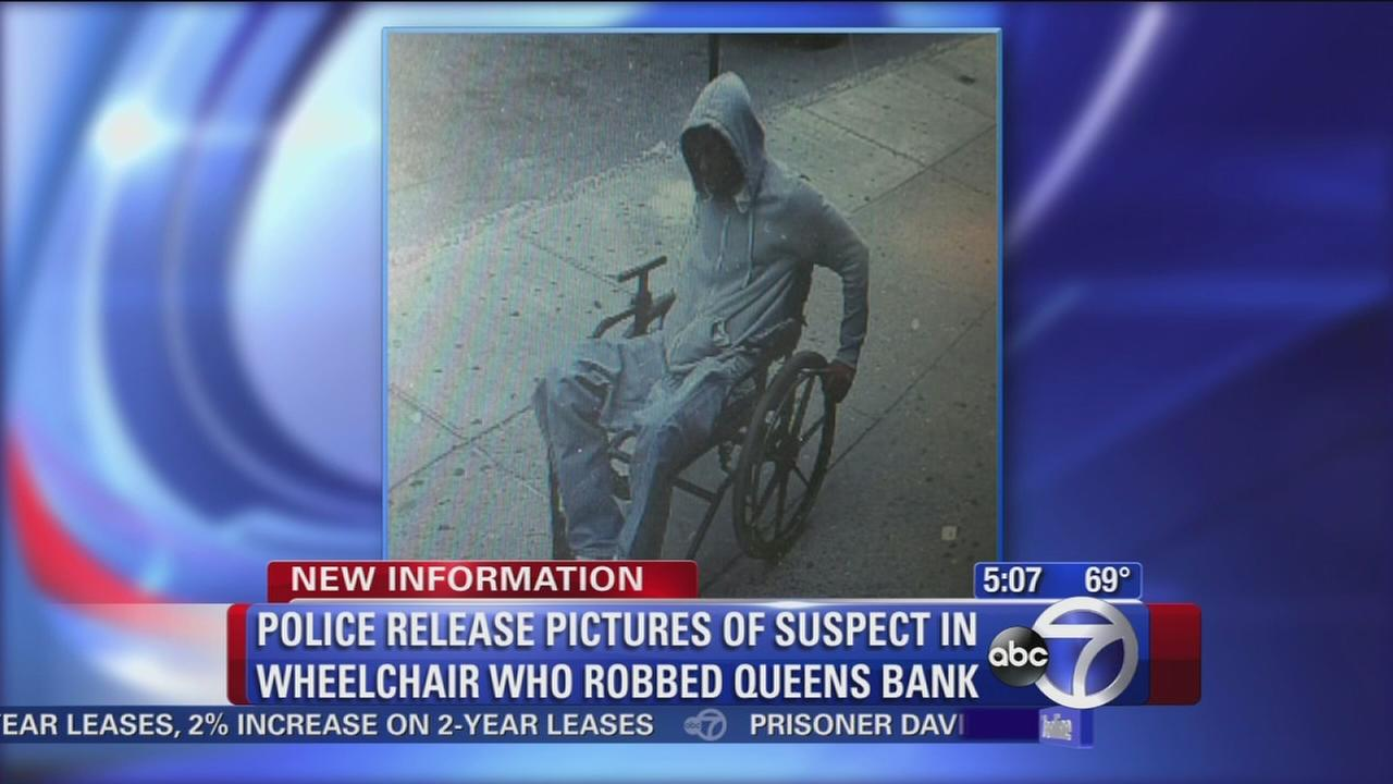 Caught on camera: Man in wheelchair robs banks