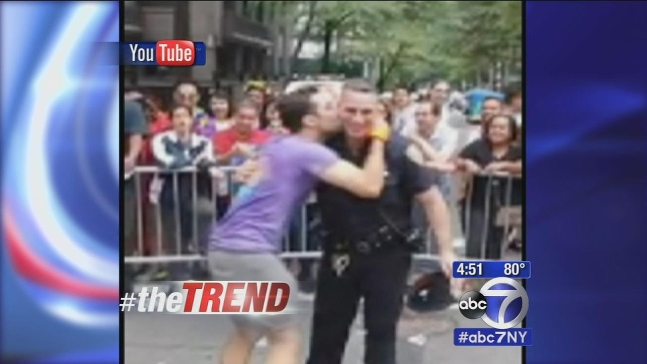 The Trend: New York City cop dances with gay-pride marcher