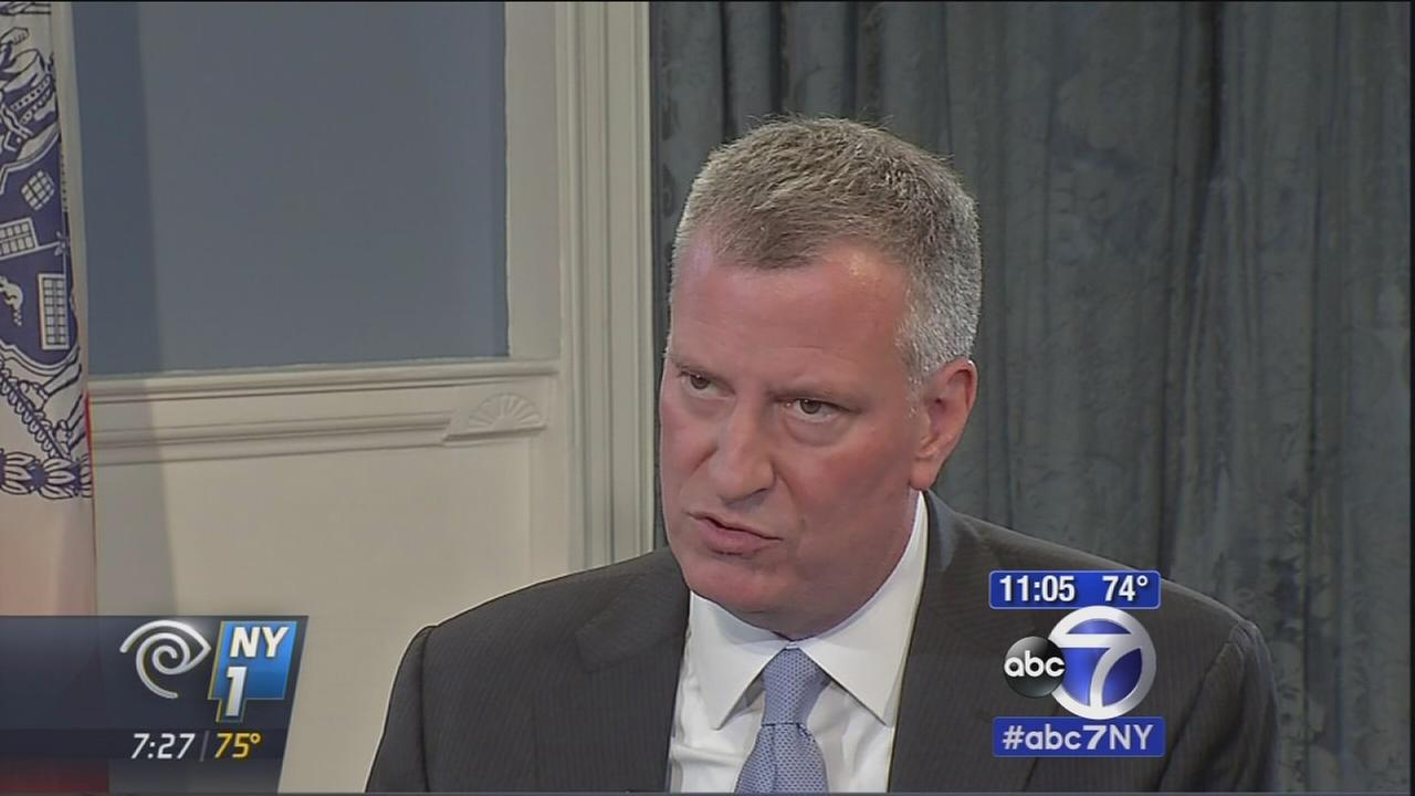 Mayor de Blasio takes aim at Governor Cuomo in remarks