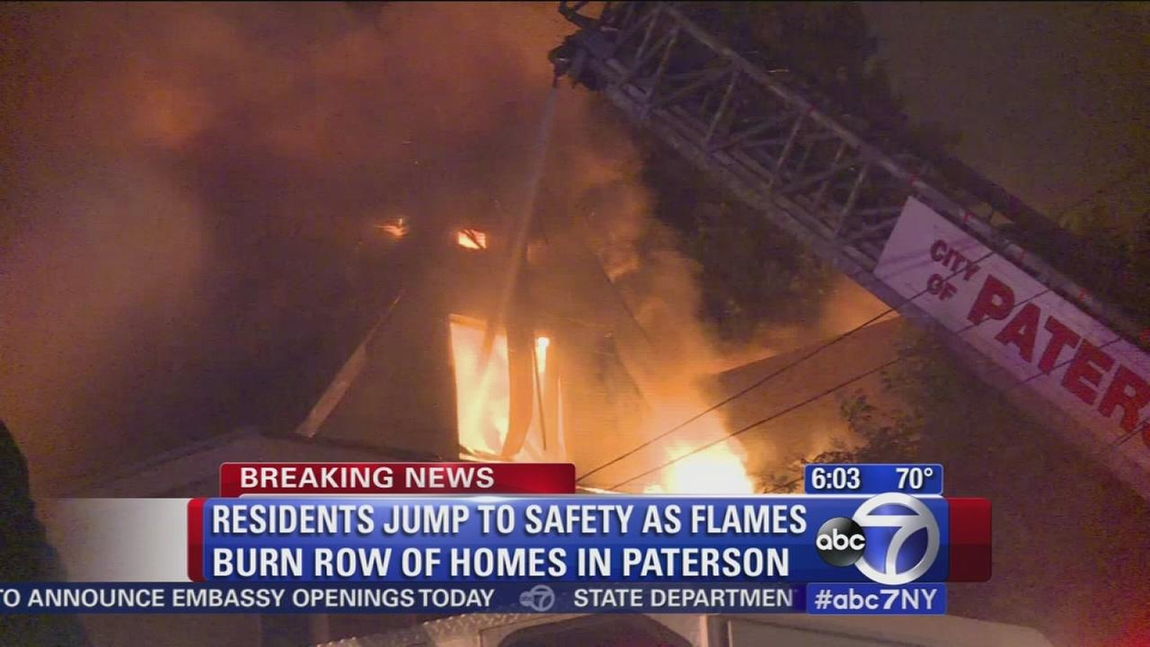 Several families homeless after overnight fire in Paterson