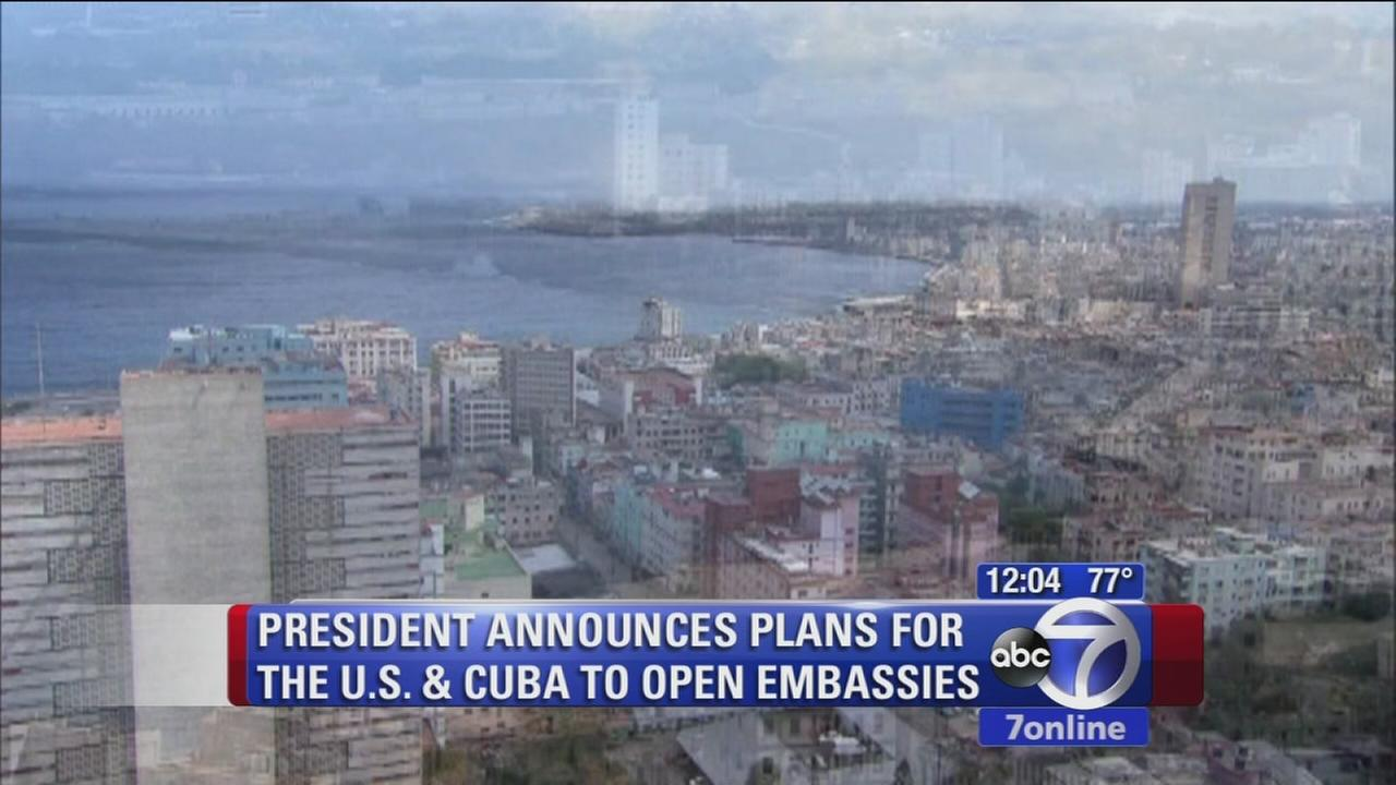 U.S., Cuba embassies to open in Havana, DC