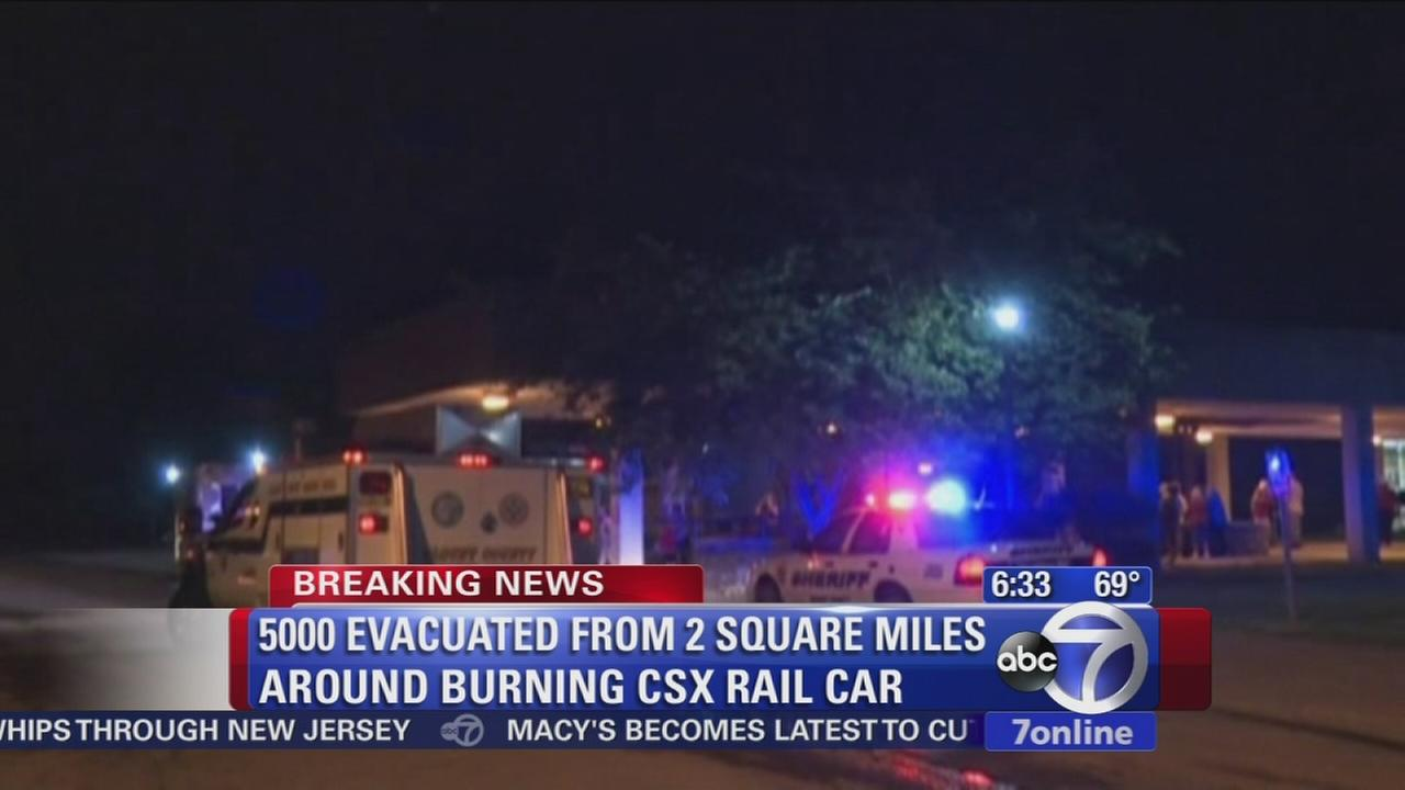 Train fire leads to derailment