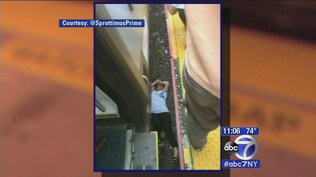 Woman falls through gap at Great Neck LIRR station