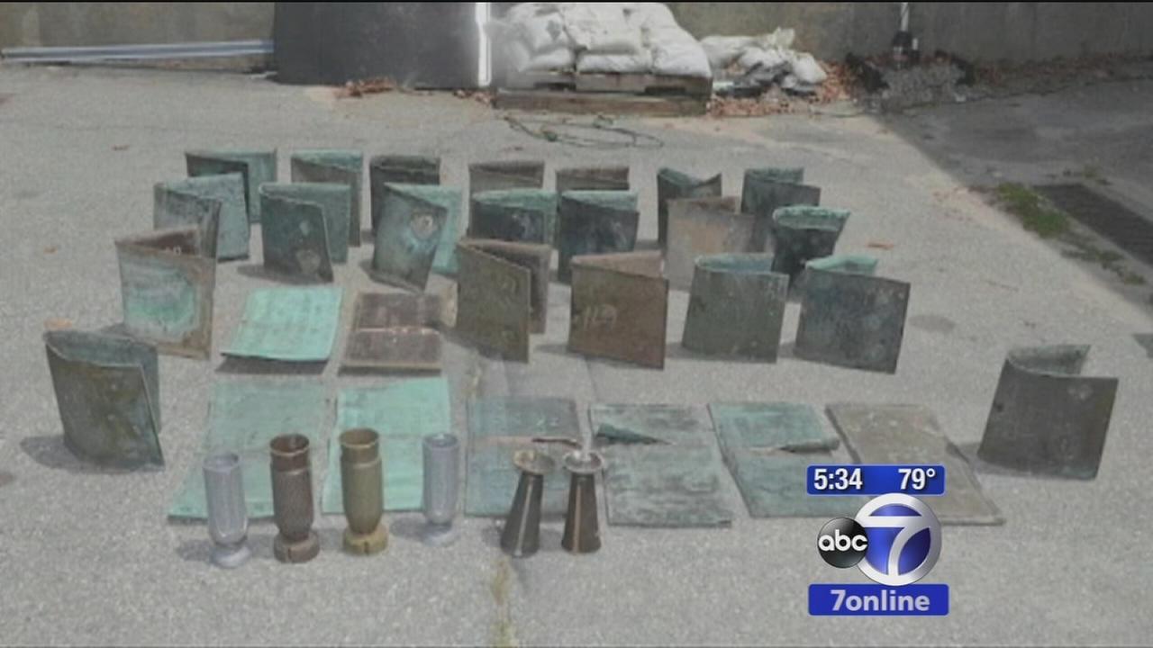 Veterans gravestones desecrated in 2 Rhode Island towns
