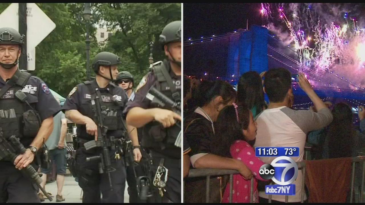Heightened security in New York area for 4th of July weekend