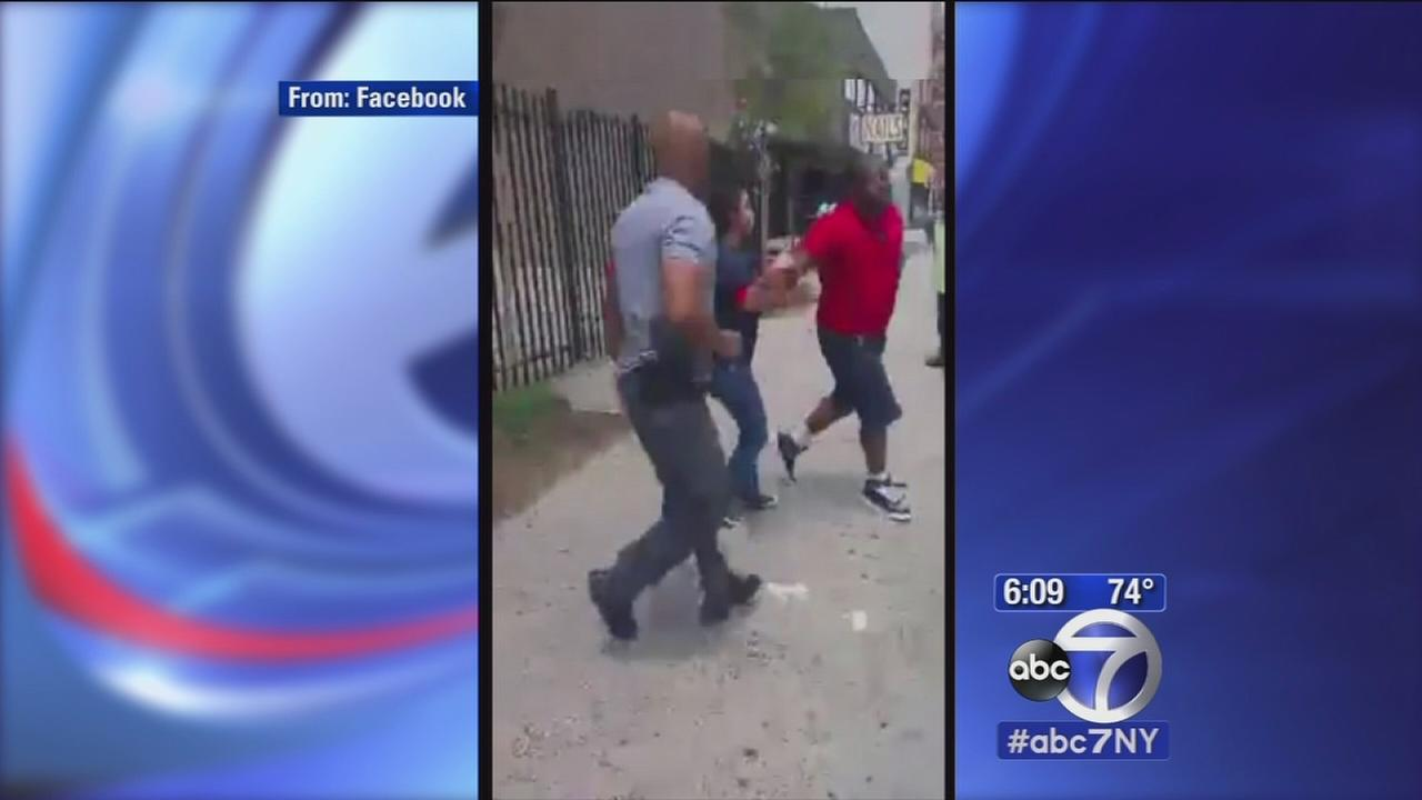 Suspect, family react after videos shows officers boxing with suspect in Harlem