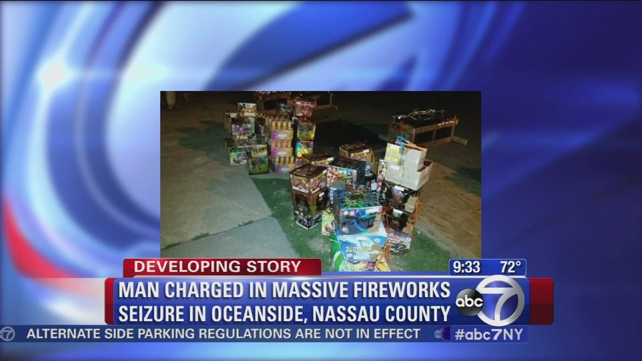 Man charged in LI fireworks bust
