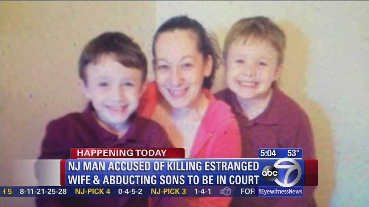 NJ man accused of murdering wife, abducting kids due in court