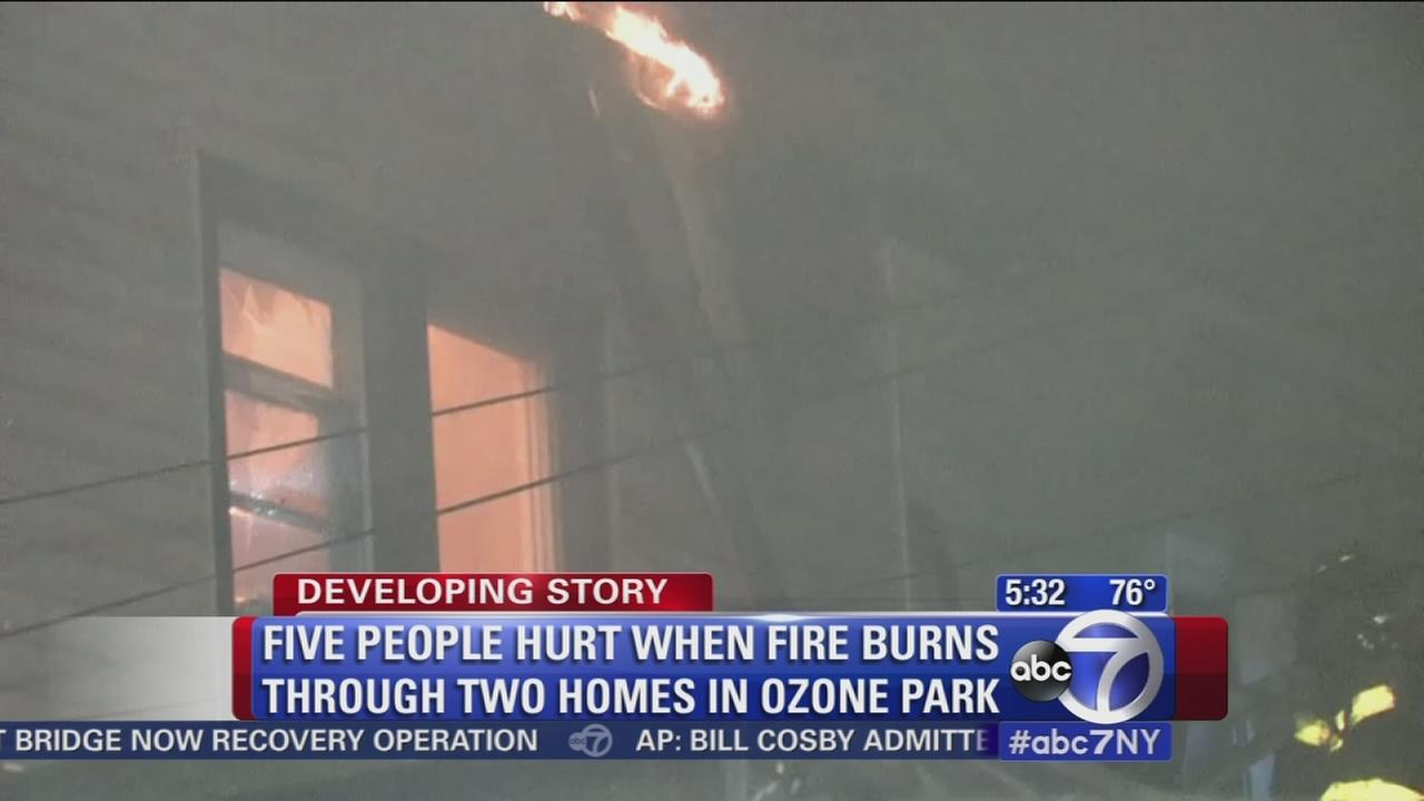 5 people hurt in Ozone Park fire