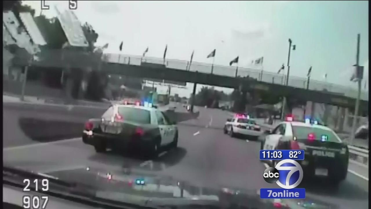 Dashcam video of wild police chase throughout New Jersey