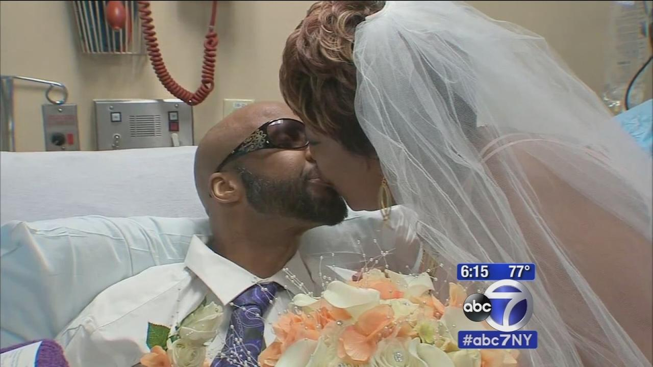 Long Island cancer patient gets married from his hospital bed