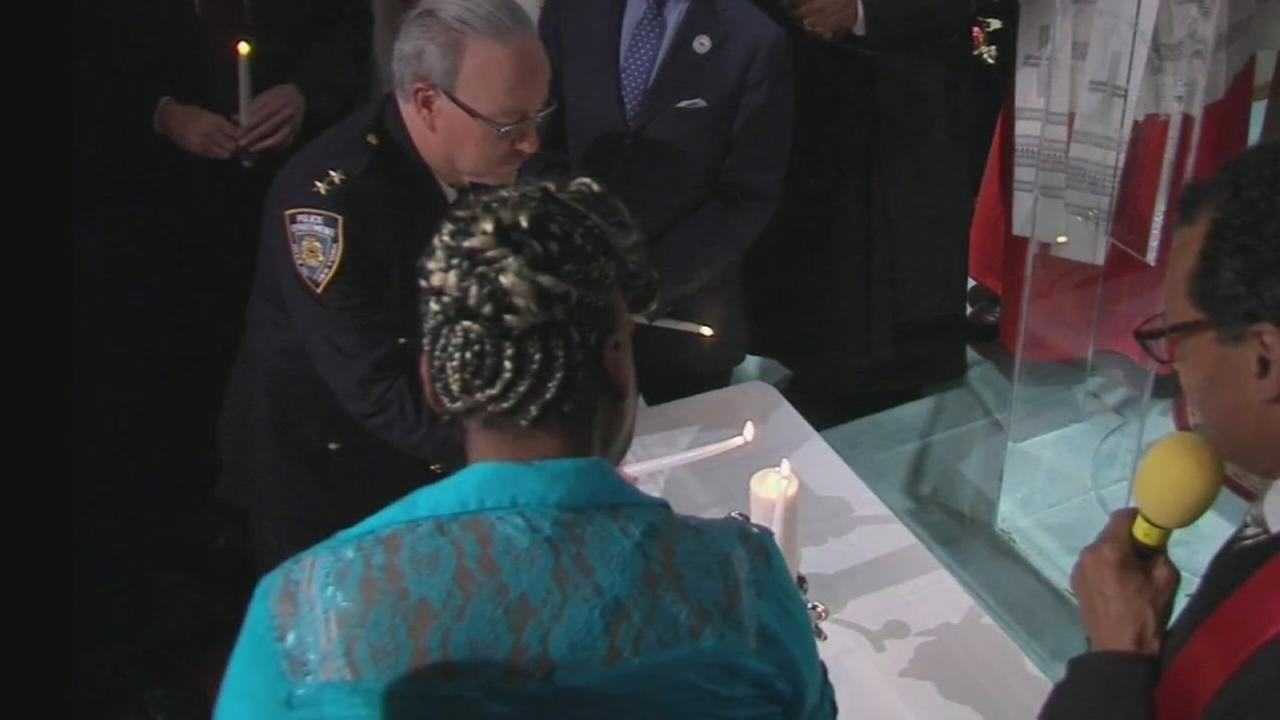 Memorial service held for Eric Garner in wake of family settlement with city
