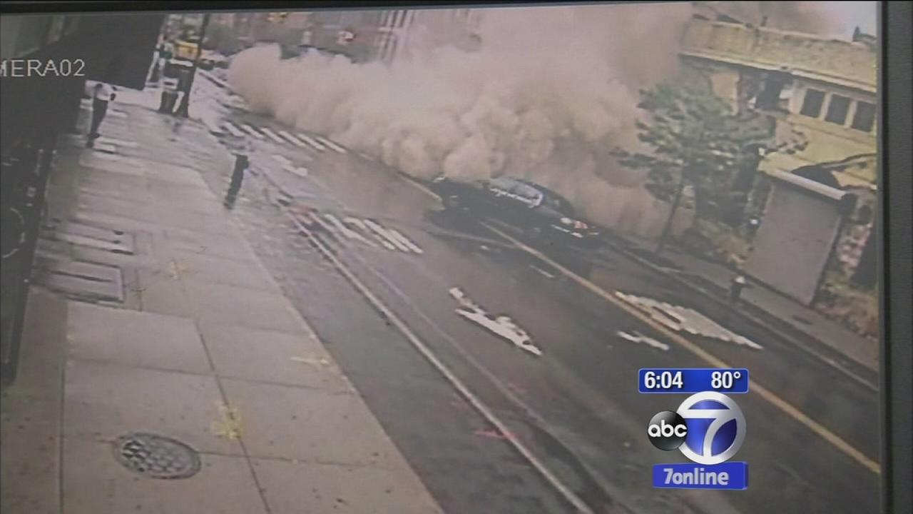 Surveillance video shows Brooklyn building collapse