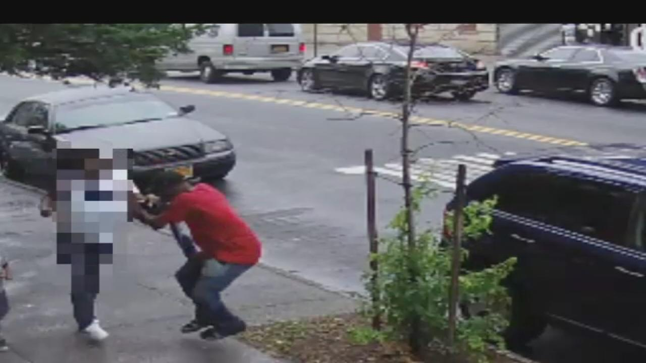 Surveillance video shows purse snatching in South Bronx