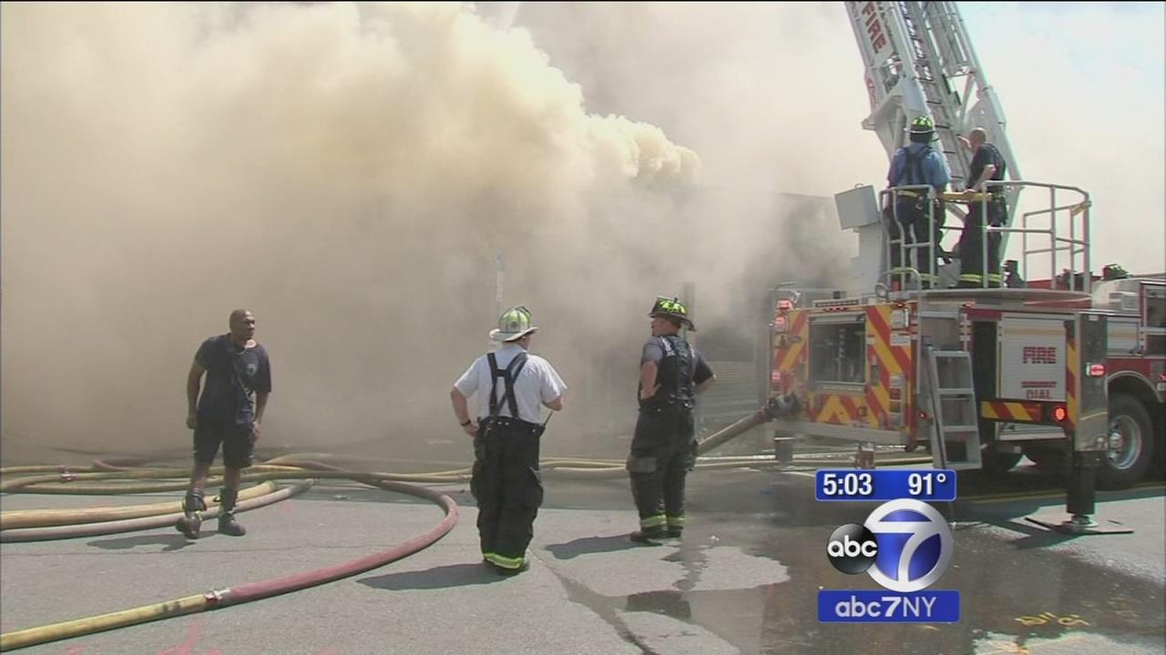 6 firefighters taken to hospital while battling church fire