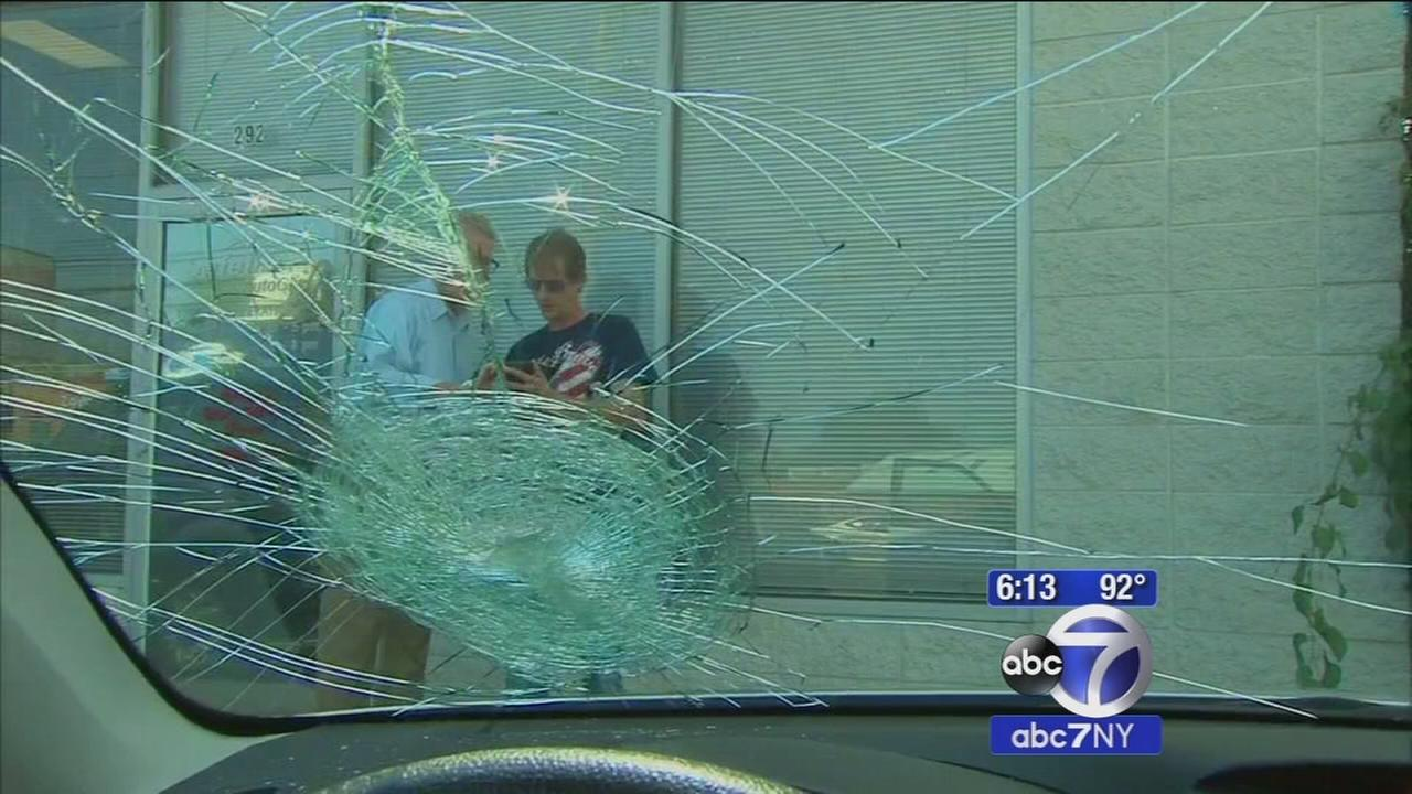 Mans car hit by thrown brick while traveling on the Henry Hudson Parkway