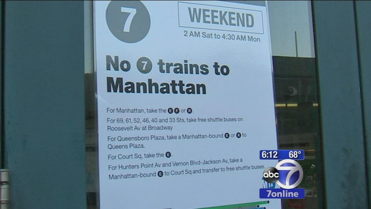Weekend work causing headaches for 7 line riders